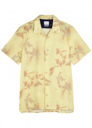 PS Paul Smith Yellow floral-print cotton shirt