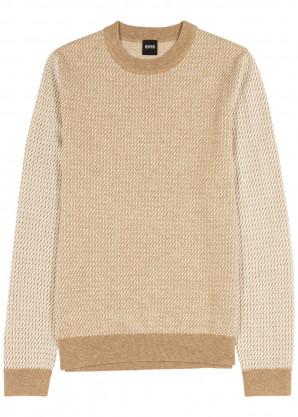 HUGO Camel wool jumper