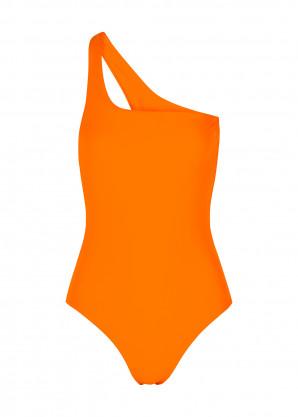 JADE SWIM Evolve orange one-shoulder swimsuit