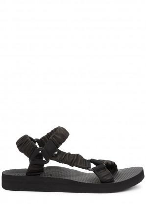 Arizona Love Trekky black leather sandals