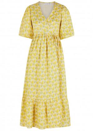 Faithfull The Brand Thulla floral-print linen wrap dress