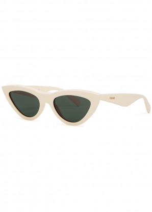 Celine Cream cat-eye sunglasses