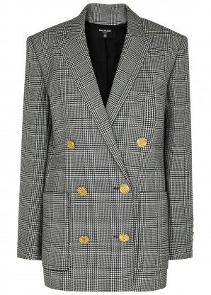 Balmain Houndstooth double-breasted blazer