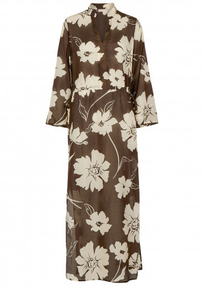 Tory Burch Floral-print cotton-blend maxi kaftan