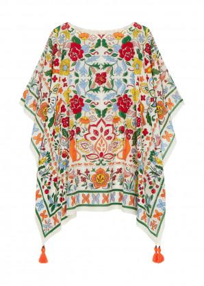 Tory Burch Floral-print cotton-blend kaftan