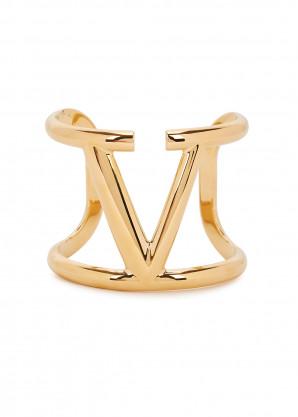 Valentino Valentino Garavani VLogo gold-tone cuff