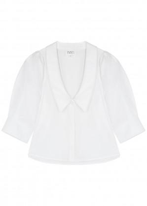 Bird & Knoll Ingi white cotton shirt