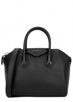 Givenchy Antigona small black leather top handle bag