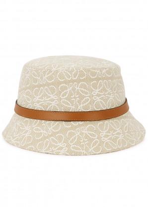 Loewe Anagram logo canvas bucket hat