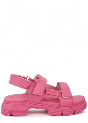 Ganni 40 pink rubberised sandals