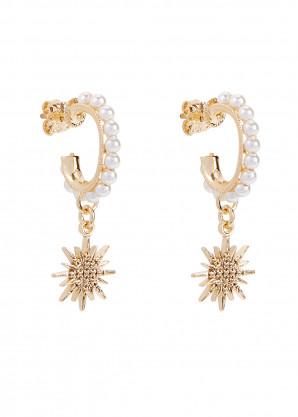 Soru Jewellery Mini Luna 24kt gold vermeil drop earrings