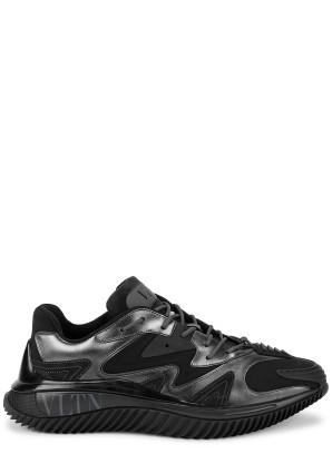 Valentino Valentino Garavani Wave black panelled sneakers