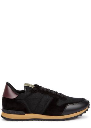 Valentino Valentino Garavani Rockrunner black mesh sneakers