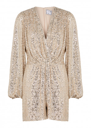 IN THE MOOD FOR LOVE Bjork silver sequin playsuit