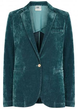 forte_forte Blue velvet blazer