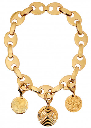 Paco Rabanne Eight gold-tone link necklace