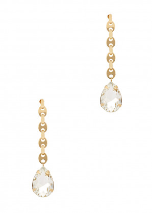 Paco Rabanne Eight Nano gold-tone drop earrings