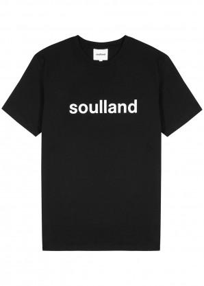 Soulland Chuck black cotton T-shirt