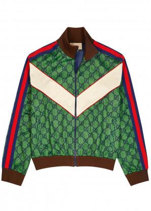 Gucci GG striped jersey track jacket