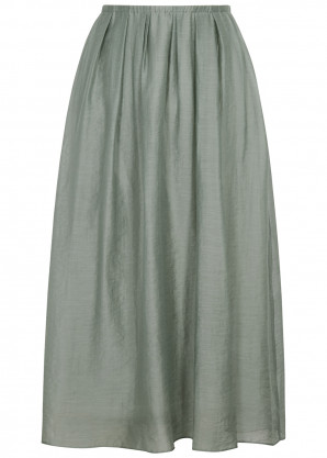 Vince Sage Lyocell-blend midi skirt