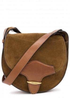 Isabel Marant Botsy brown suede saddle bag