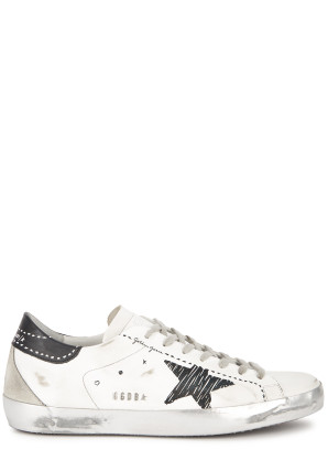 Golden Goose Superstar printed distressed leather sneakers