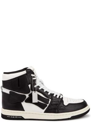 Amiri Skel monochrome leather hi-top sneakers