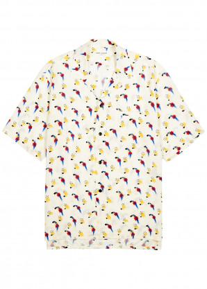 Saint Laurent Cream printed shirt