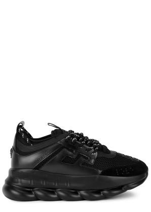 Versace Chain Reaction black mesh sneakers