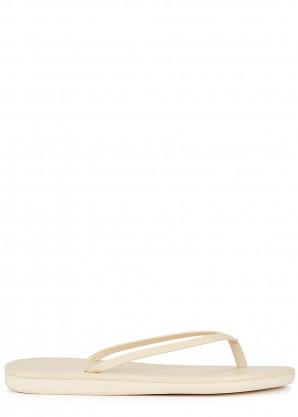 Ancient Greek Sandals Saionara off-white leather flip flops
