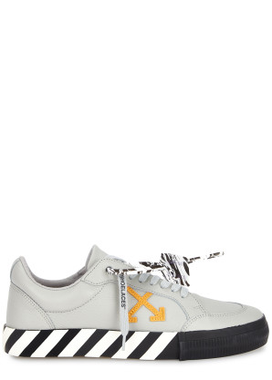 Off-White Vulcanized grey leather sneakers
