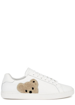 Palm Angels New Teddy appliquéd leather sneakers