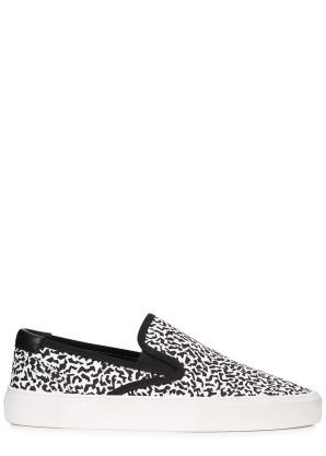 Saint Laurent Venice monochrome printed skate shoes
