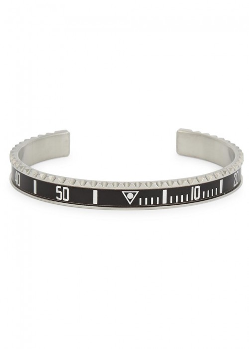 SPEEDOMETER OFFICIAL BLACK MARINE STEEL BRACELET