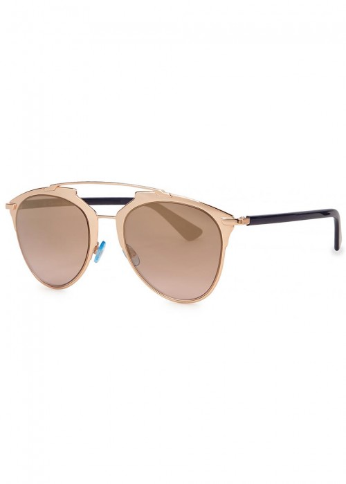 6a127a18984d00 DIOR REFLECTED MIRRORED CLUBMASTER-STYLE SUNGLASSES, 52 CPPRGDB ...