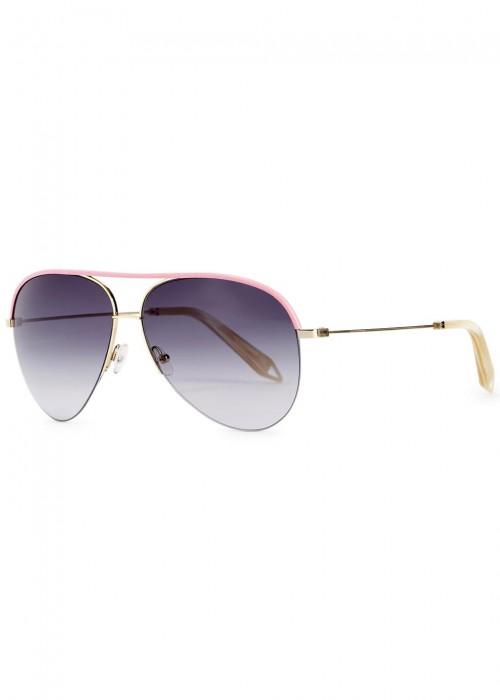Beckham de aviador rosa clásico Gafas estilo sol Victoria de 87wdqqz