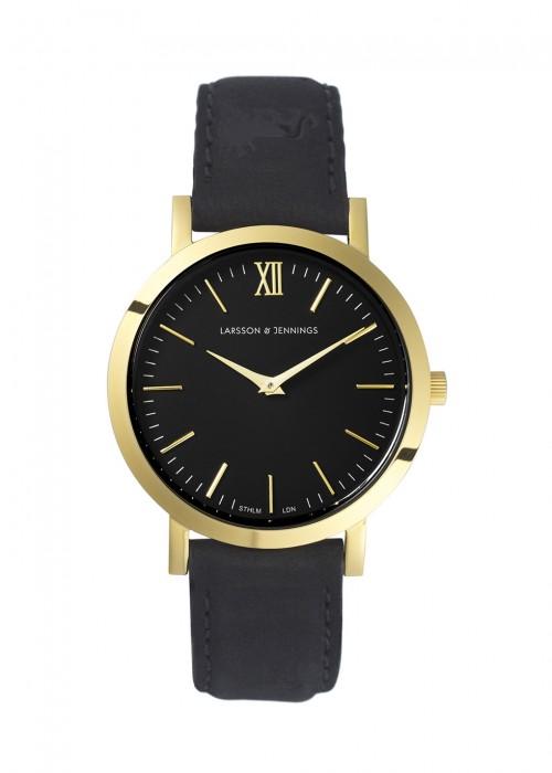 Liten Gold-Plated Watch, Black