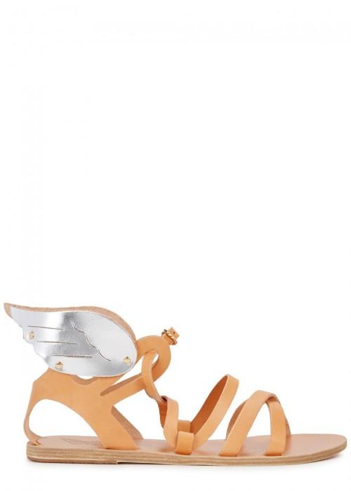 Ancient Greek Sandals  NEPHELE LIGHT BROWN LEATHER SANDALS