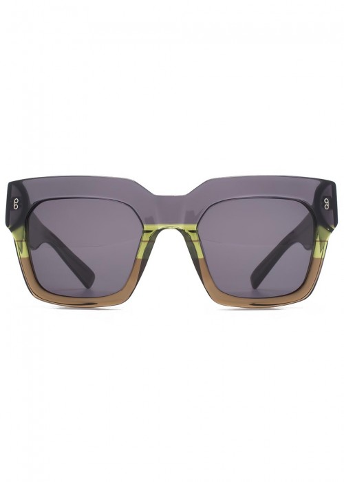 HOOK LDN Genesis Dégradé Square-Frame Sunglasses in Green