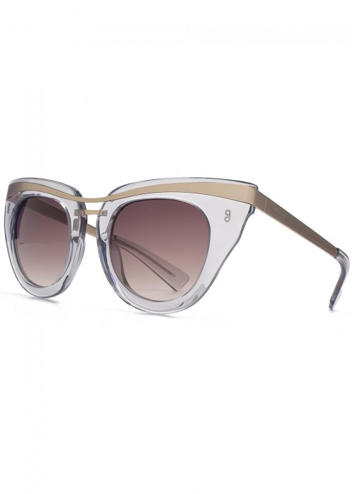 HOOK LDN Clique Grey Cat-Eye Sunglasses