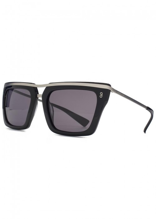HOOK LDN Chambers Black D-Frame Sunglasses