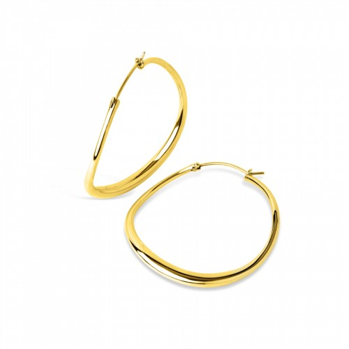 WAVE LARGE HOOPS