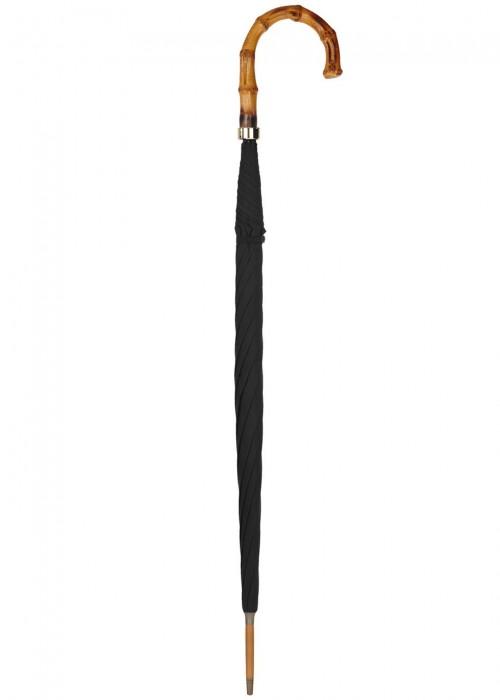 FOX UMBRELLAS Black Bamboo-Handle Umbrella