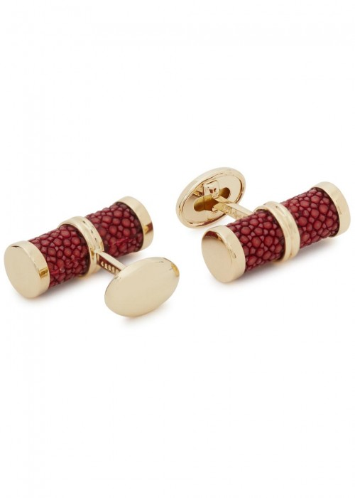 TRIANON 18Kt Gold Cufflinks in Bordeaux