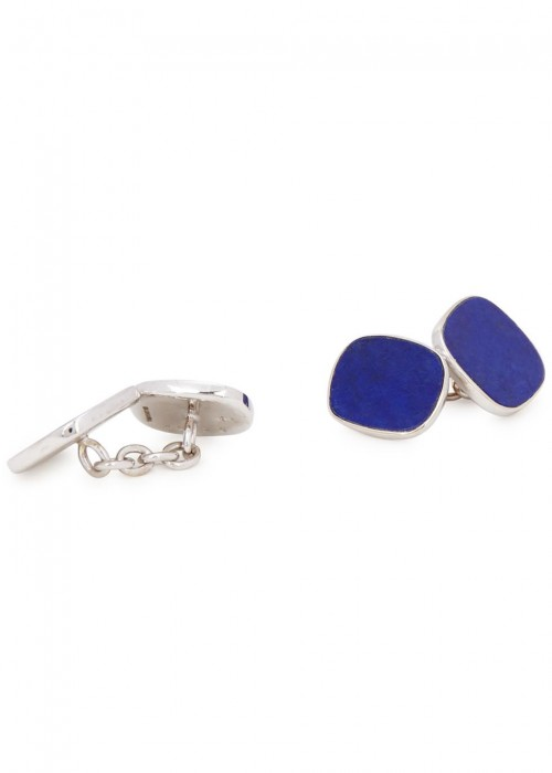 TRIANON LAPIS STERLING SILVER CUFFLINKS