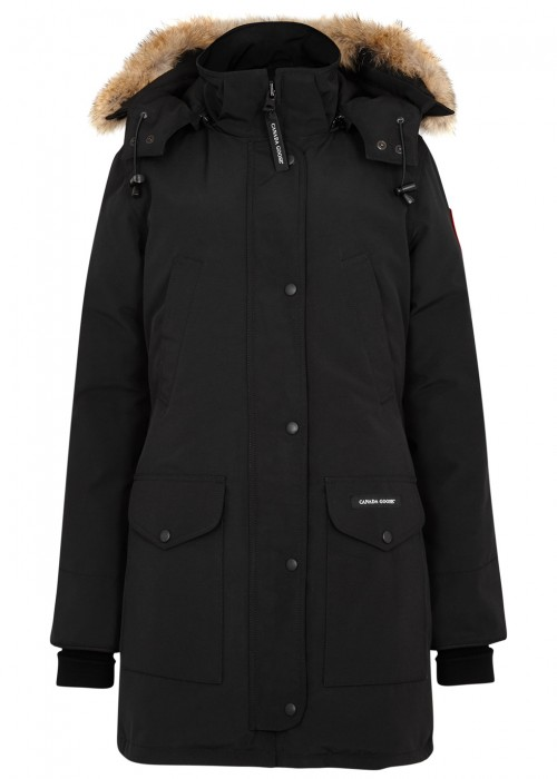 SHELBURNE BLACK FUR-TRIMMED PARKA