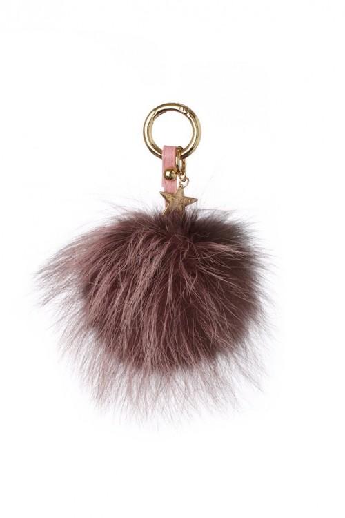 POPSKI LONDON Fur Pom Pom Keyring
