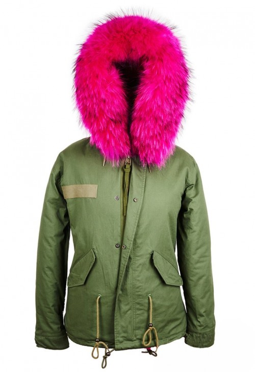 RACCOON PARKA FUR COLLAR