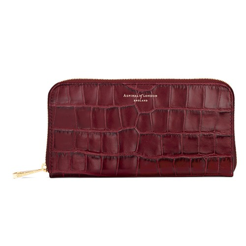 ASPINAL OF LONDON THE CONTINENTAL ZIP WALLET