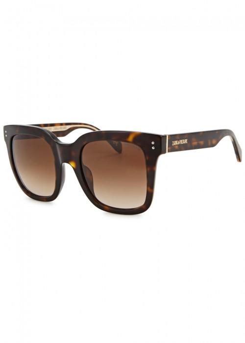 3e9222d5f5 Zadig   Voltaire Tortoiseshell Square-Frame Sunglasses In Havana ...